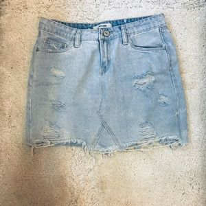 Charlotte Russe denim skirt